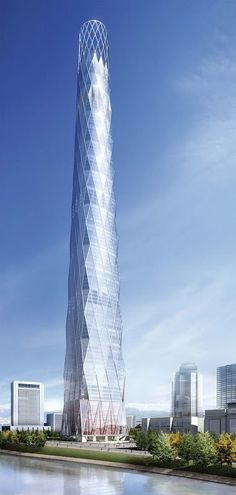Lotte World Tower is a 123 floor, 1,821 feet supertall skyscraper currently under construction in Lotte World complex in Seoul, South Korea.  Once completed, it will be the tallest building on the Korean peninsula, as well as the fourth tallest building in the world. Estimated completion of construction is 2016.  Photo: google+