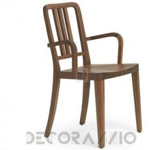 #wooden #wood #woodwork #furniture #furnishings #eco #design #interior #interiordesign #decoration #decor  стул с подлокотниками Riva 1920 Melissa, Arb-Melissa/B