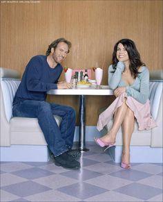 "Scott Patterson and Lauren Graham, aka Luke Danes and Lorelai Gilmore on the hit TV show ""Gilmore Girls."""