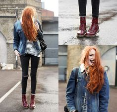 1. DENIM JACKET, ASOS, HTTP://BIT.LY/1DIIOTA 2. STRIPED TOP, MANGO, ASOS, HTTP://BIT.LY/1DKJSAX 3. PASCAL BOOTS, DR. MARTENS, SCORPIO SHOES, HTTP://WWW.SCORPIOSHOES.COM/WOMENS-3/BOOTS-11/ANKLE-BOOTS-58/MARTENS-PASCAL-WOMENS-LEATHER-EYELET-ANKLE-28898.HTM