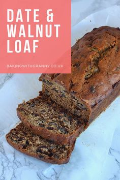 date and walnut cake * date and walnut cake ; date and walnut cake recipes ; date and walnut cake moist Apple Cake Recipes, Dessert Recipes, Easy Fruit Cake Recipe, Granny Cake Recipe, Loaf Recipes, Golden Syrup Cake, Sultana Cake, Date And Walnut Loaf, Baking Cupboard