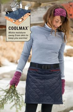 Need a great gift? Don't sweat it. In common cotton sweaters, one minute you're sweating and the next you're shivering. But that's not the case with S'no Sweat Performance Sweaters. Built-in CoolMax wicks moisture away to keep you dry and warm.
