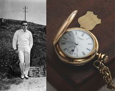 Pocketwatch belonging to legendary actor James Dean. The pocketwatch was made by American watchmaker Standard USA circa 1889 with an American-made Elgin movement. Dean had his initials engraved on the watch and considered it his good luck charm, wearing it while performing in TV and plays. The piece's estimated price was around US $5,000, but after several bids from around the world, the watch sold for eight times that estimated value at about $42,000 (HKD $325,000).