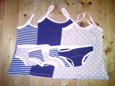Fehérneműszettek nagyobb kislányoknak Sewing Baby Clothes, Baby Rompers, Diapers, Swimming, Fashion, Baby Overalls, Swim, Moda, Fashion Styles