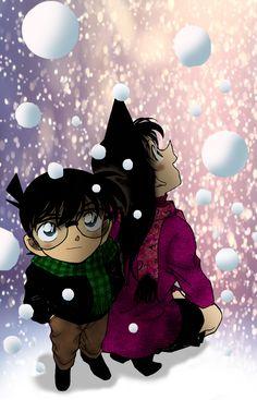 Manga Anime, Anime Art, Ran And Shinichi, Detective Conan Wallpapers, Lapidot, Magic Kaito, Case Closed, Stargazing, Anime Couples