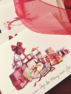 Parker Pens Holiday #watercolor #cards