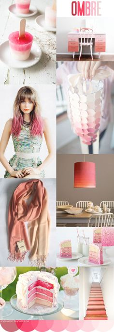 (Jenni) Ombre Theme Party Endless Possibilities #Trendy #Party #Ombre #Summer #Decor #Wedding