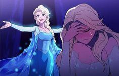 "2013 Elsa: ""Here I stand, in the light of day!"" 2019 Elsa: ""That's not me. Disney Pixar, Frozen Disney, Disney Cartoons, Anime Disney Princess, Humour Disney, Frozen Art, Film Disney, Funny Disney Memes, Disney Kunst"