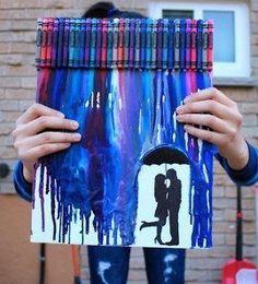 Melting rain Crayon art