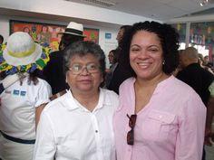 Flávia Pinto e Marlene Matos no lançamento da Exposiçao Padrinho Cicero Feira de Sao Cristovao