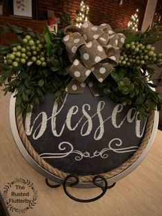 Dollar Tree Christmas, Christmas Crafts, Christmas Decorations, Christmas Ideas, Dollar Tree Decor, Dollar Tree Crafts, Fall Crafts, Holiday Crafts, Blessed Sign