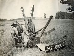 Self-Rake Reaper In 1860, Cyrus McCormick introduced the self-rake reaper. This innovation eliminated the need to have a second worker walk along side the reaper to rake the cut wheat off the machine to the ground.