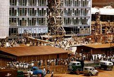 Construção do Congresso Nacional. Foto: René Burri (1959)