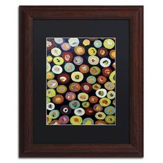"""Trademark Art """"Archipel"""" by Sylvie Demers Framed Painting Print Size: 14"""" H x 11"""" W x 0.5"""" D"""