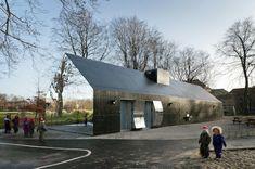 Haus mit verspiegelter Fassade kopenhagen