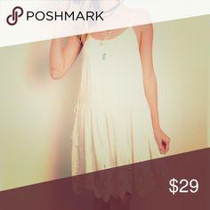 HPCOMING SOON Flirty Ivory Dress Fashion Favorites HP 6/14Super cute and feminine! 60% cotton 40% rayon. Dresses Mini