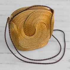 Handmade Golden Grass Sling Handbag from Brazil - Golden Links Accessories Bag Bags by Material Bags by Shape Bags by Size Bags by Style Bags by Usage Fall Handbags, Cute Handbags, Cheap Handbags, Luxury Handbags, Purses And Handbags, Luxury Bags, Backpack Handbags, Celine Handbags, Luxury Purses