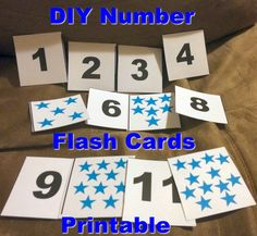 First Time Mom and Losing It: DIY Number Flash Cards for Toddlers and Printable
