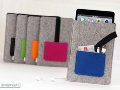 iPad mini Tasche aus Wollfilz mit extra Tasche