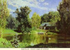 Vasiliy Polenov. Pond in Abramtzevo.