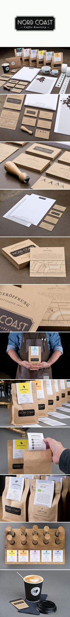 Nord Coast Coffee Roastery by Phound Design Studio Coffee Logo, Coffee Branding, Coffee Packaging, Coffee Shop, Organic Packaging, Brand Packaging, Packaging Design, Branding Design, Menu Design