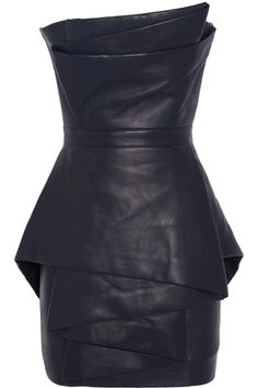 Balmain | Leather mini dress | NET-A-PORTER.COM