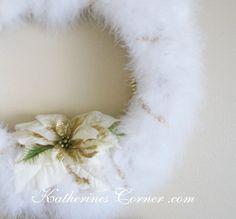 feather wreath craft katherines corner