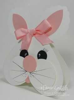adorable handmade Easter Bunny card ...  punch art ... from Dawn's Stamping Studio ... video and supply list on blog ... luv it!! ...