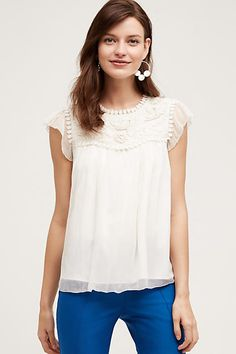 Lyra Embroidered Blouse, White