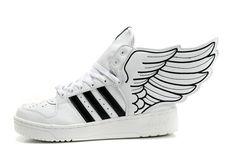 Women adidas x Jeremy Scott JS Wings 2.0 white black For $109.99