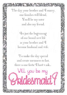 Will you be my bridesmaid? by BeautyGlitzGlam on Etsy https://www.etsy.com/listing/268501011/will-you-be-my-bridesmaid