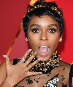 Janelle Monáe's New Super-Short Haircut Just Won The Oscars Red Carpet #refinery29 http://www.refinery29.com/2017/02/142715/janelle-monae-oscars-2017-look-pixie-cut#slide-4