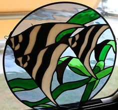 2c7b88735f9e4d Angel Fish Stained Glass Crafts