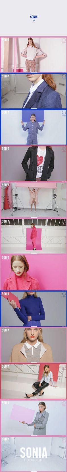 SONIA BY, 1 August 2013. http://www.awwwards.com/web-design-awards/sonia-by   #Fashion #Fullscreen #HTML5 #Video #Design