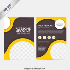 Abstract brochure with circles Free Vector