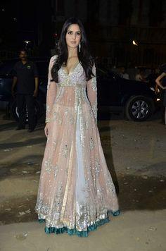 Katrina Kaif at the 56th Film-fare Awards Function in a gorgeous anarkali dress.