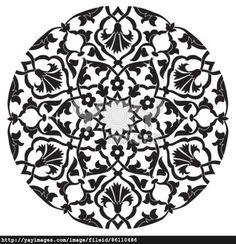 black oriental ottoman design twenty-four