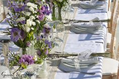 Setting up for Natasha and Andrei's Vintage Lavender Wedding in Santorini Wedding Reception, Wedding Venues, Wedding Ideas, Dana Villas, Garnet Wedding, Santorini Wedding, Wedding Details, Lavender, Dream Wedding