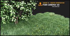Grow It Grass Generator C4d By darstellungsart.