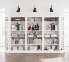"Aubrey 139"" x 84"" Wall Bookcase | Pottery Barn"