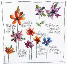 Art du Jour by Martha Lever: Color Drop Flowers
