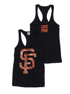 San Francisco Giants Bling Racerback Tank.  I WANT THIS PLEASEEEEEE <3