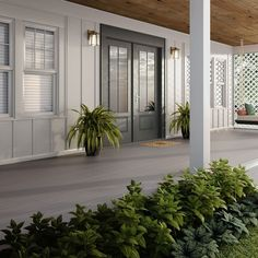 Welcome home with a lovely front porch, complete with #Deckorators decking. #deckdesign #deckorators #decking #porch #porchlife #home #homesweethome Home Porch, Diy Porch, Screened In Porch, Front Porch, Under Deck Drainage System, Deck Framing, Deck Posts, Board Shop, Under Decks