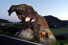 The Elephant stone, natural shape stone Sardinia, Italy