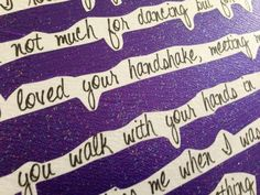 "Taylor Swift ""Last Kiss"" Quote Canvas on Etsy, $30.00"