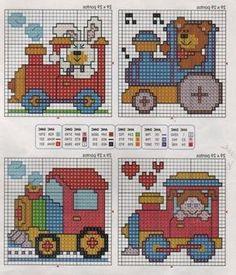 Gallery.ru / Фото #5 - 38 - ergoxeiro Cross Stitch For Kids, Cute Cross Stitch, Cross Stitch Charts, Cross Stitch Designs, Perler Patterns, Cross Stitch Patterns, Cross Stitching, Cross Stitch Embroidery, Crochet Numbers
