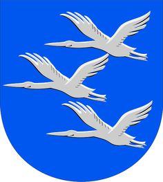 Municipality of Äänekoski, Finland, Area Km²) City Logo, Coat Of Arms, Moose Art, Army, Animals, Coats, Crown, Inspiration, Animales