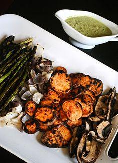 Grilled Vegetable Platter With Cilantro Avacado Aioli Recipe