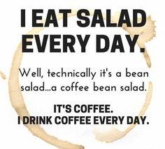 #salad? #coffee!!