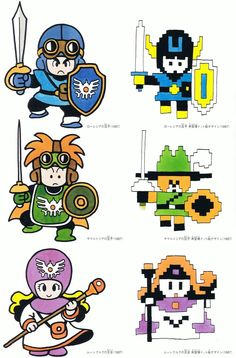 prototype of Dragon Quest II pixel art for Famicom